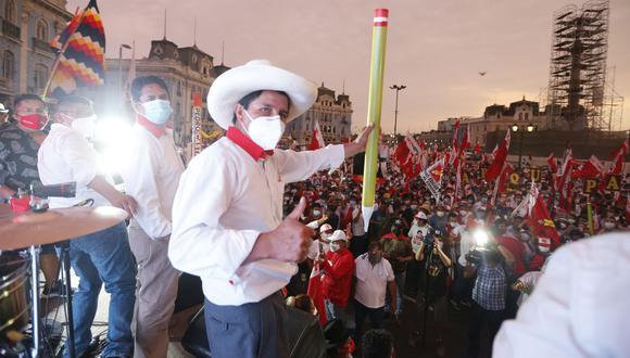 Pedro Castillo, candidato presidencial por Perú Libre. (Foto: Violeta Ayasta / GEC)