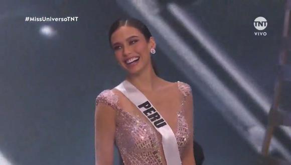 Janick Maceta y cuatro candidatas más fueron escogidas en el Top 5 del Miss Universo 2021. (Foto: Captura TNT).