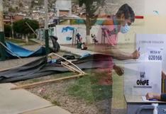 Huánuco: viento tumba carpas instaladas por la ONPE para sufragar (VIDEO)