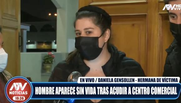 Daniela Gensollen, hermana de Alex Vera Tudela. (Foto: captura   ATV)
