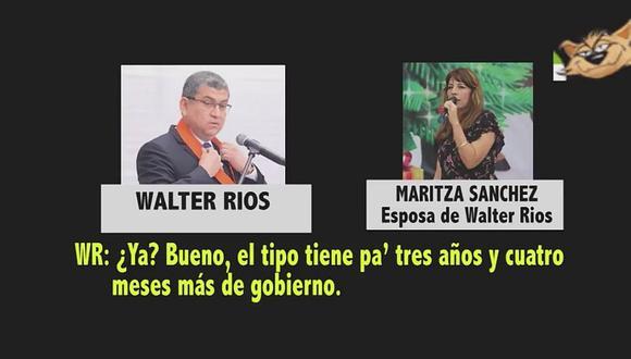 Nuevo audio: Walter Ríos y su esposa aluden al presidente Vizcarra y lo vinculan con Camayo