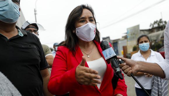 Nidia Vílchez era la candidata presidencial del Partido Aprista. (Foto: Miguel Yovera / GEC)