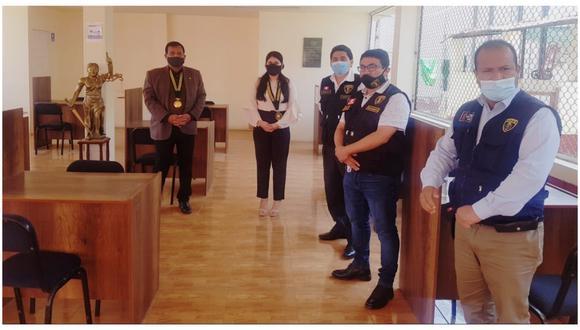 Tras reunión de representantes del Colegio de Abogados de La Libertad con las autoridades del establecimiento penitenciario.