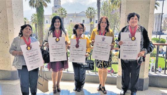 Contribuyeron en la defensa y promoción de los derechos de la mujer en la Ciudad Blanca y el país desde diferentes áreas. (Foto: Leonardo Cuito)