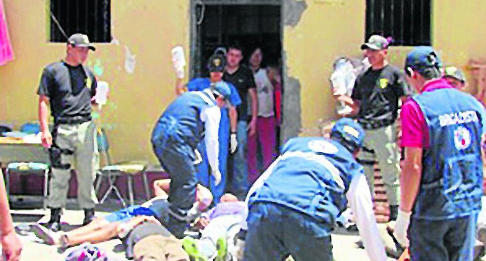 Huanta: un muerto y siete heridos en penal durante simulacro por fenómeno de El Niño