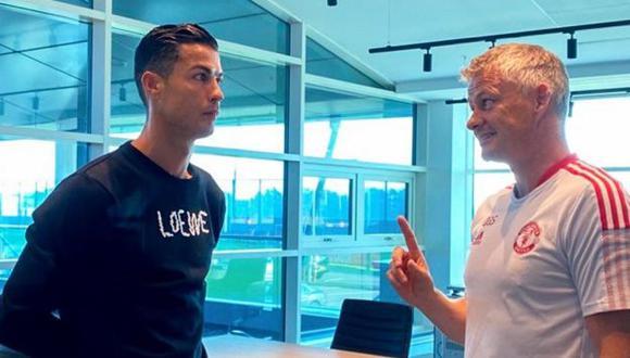 Cristiano Ronaldo firmó contrato con Manchester United hasta mediados del 2023. (Foto: Manchester United)