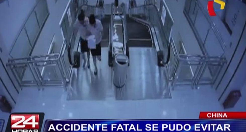 China: Accidente en escalera mecánica pudo ser evitado