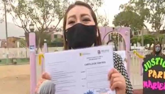 La hermana de quien fue Mariela Vela denunció el hecho ante cámaras. Captura: ATV