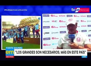 """Ángel Comizzo y sus polémicas declaraciones: """"Sporting Cristal no está a la altura de Universitario y Alianza Lima"""""""