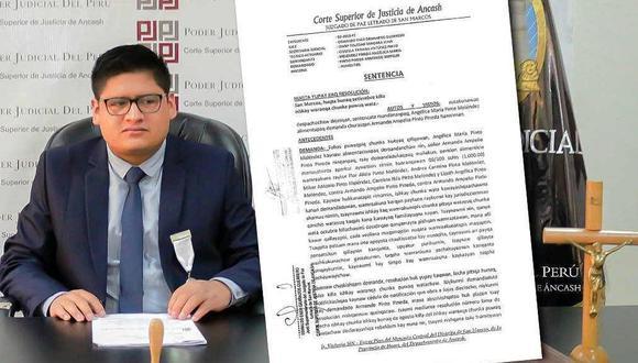 Áncash: emiten por primera vez una sentencia en quechua