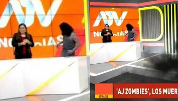 Milagros Leiva se llevó el susto de su vida tras entrevistar a un zombi (VIDEO)