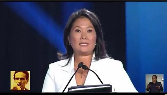 """Keiko Fujimori en debate electoral: """"Nunca más un cinco de abril"""" (VIDEO)"""