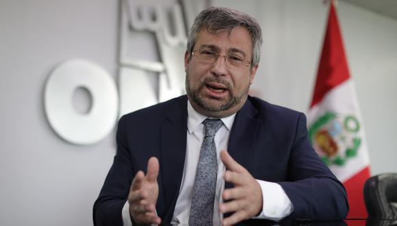 Piero Corvetto reiteró que el padrón electoral se cierra un año antes del proceso electoral, según lo establece la ley. (Foto: Archivo GEC)