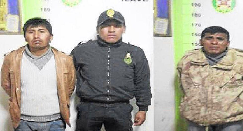 Puno: capturan a dos hombres que portaban una pistola en la ciudad de Ilave