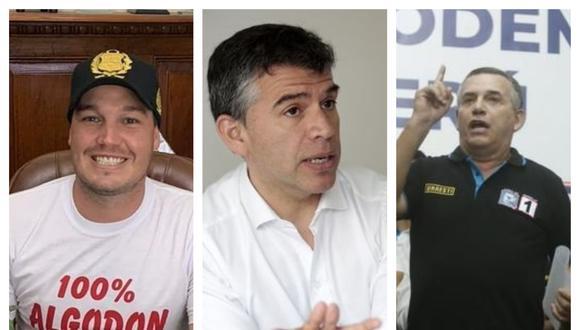 Los tres candidatos presidenciales que lideran los sondeos. Correo/GEC