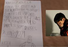 """La conmovedora carta de un niño a sus abuelos fallecidos: """"Quiero que me dibujen cómo es el infinito"""""""
