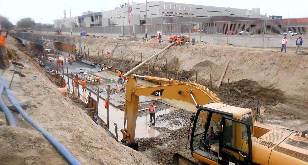 Piura: Apuran labores en obra de drenaje y evacuación de la Av. Vice