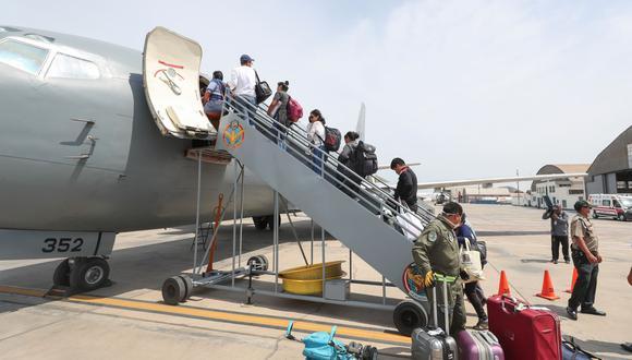 Foto referencial de vuelo humanitario. (Foto: Andina)
