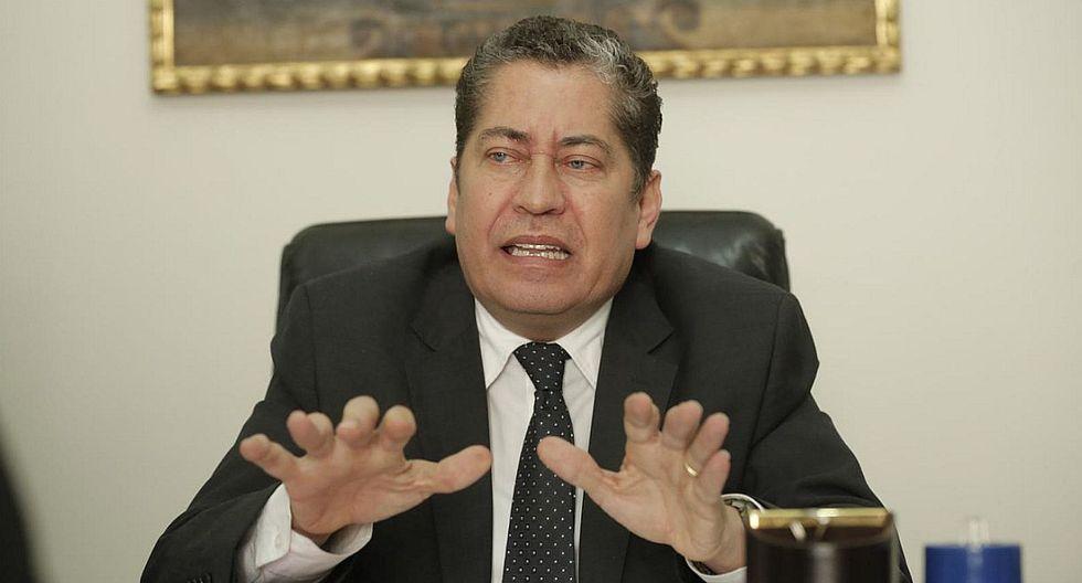 Eloy Espinosa-Saldaña mostró su preocupación por la denuncia que señala que Ernesto Blume y Giulliana Loza tuvieron una reunión. (Foto: GEC)
