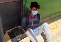 Detienen a sujeto con 6 kilos de droga en el terminal terrestre de Arequipa