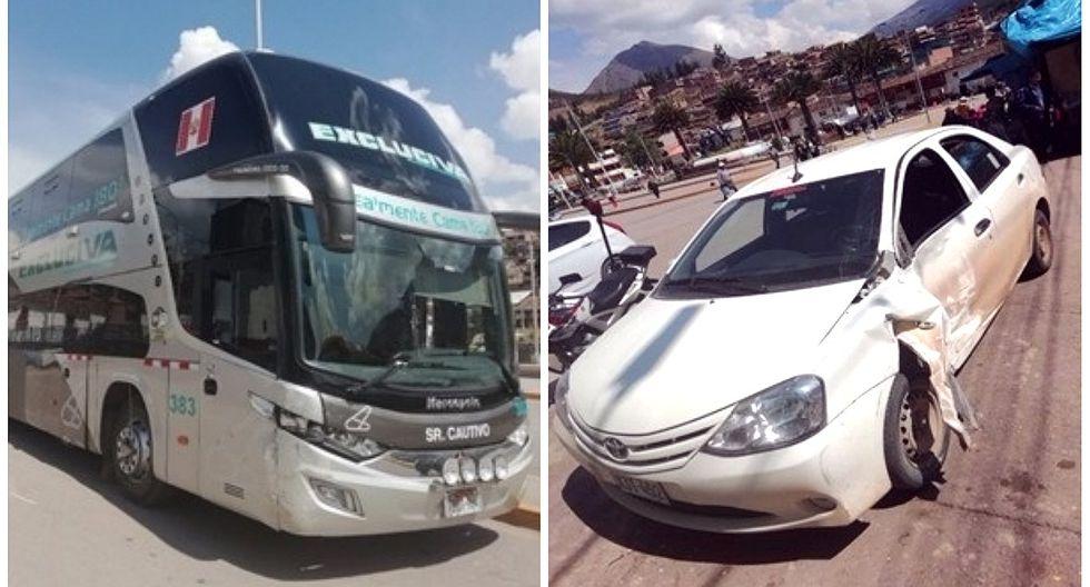 Choque de vehículos deja turistas heridos en Cusco