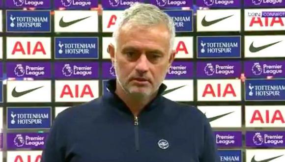 José Mourinho y su molestia tras empate de Tottenham y West Ham