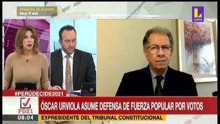 """Óscar Urviola sobre solicitudes de nulidad: """"Los tres días de plazo terminan a las 11:59 de la noche, no a las 8"""""""