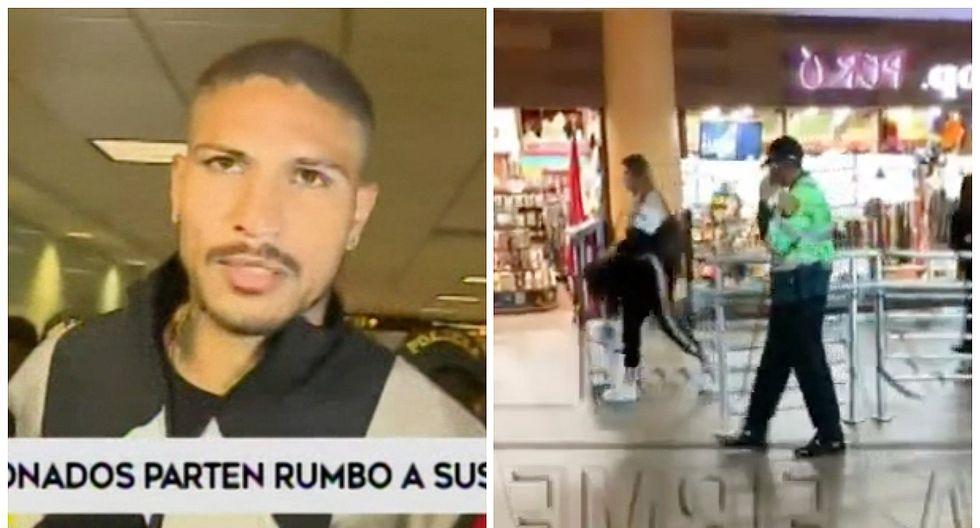 Paolo Guerrero regresó a Brasil junto a Alondra García Miró (VIDEO)