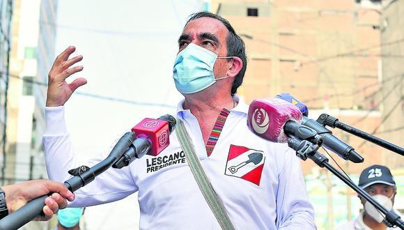Candidato presidencial por Acción Popular agradeció el respaldo de la población. (Foto: GEC)