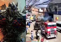 """""""Transformers, el despertar de las bestias"""": vehículos de la película recorrieron las calles de Cusco"""
