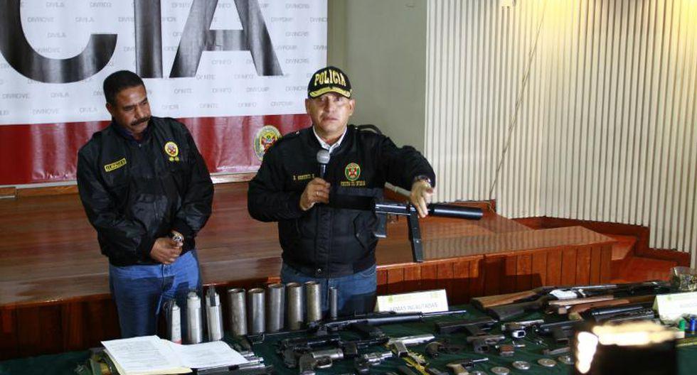 Armas incautadas eran para asaltar en Cañete