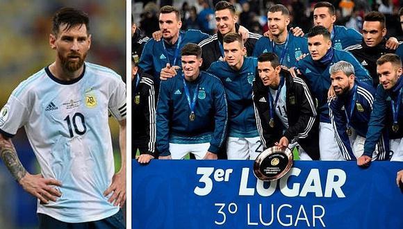 Lionel Messi menospreció medalla de bronce y no apareció en foto grupal (FOTOS)