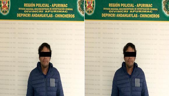 Claudio Leguía fue capturado el 1 de mayo último por la Policía de Apurímac tras permanecer prófugo por 23 días. (Foto: PNP)