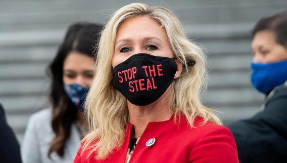 La representante estadounidense Marjorie Taylor Greene, republicana de Georgia. (SAUL LOEB / AFP).