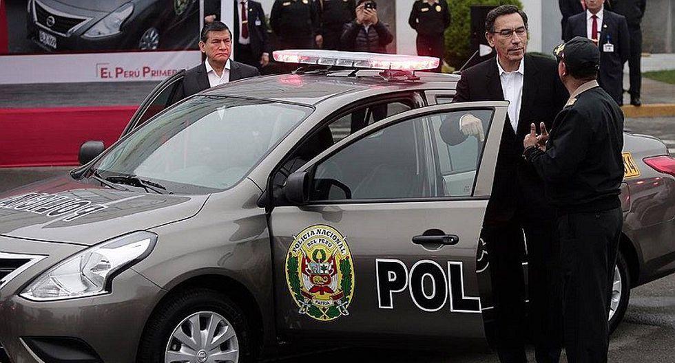 Martín Vizcarra: 900 nuevos patrulleros tendrá la Policía para combatir delincuencia