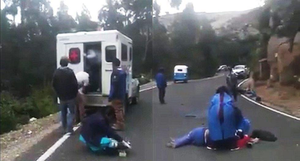 Desperfecto en puerta de ambulancia hace pasar mal momento a personal asistencial
