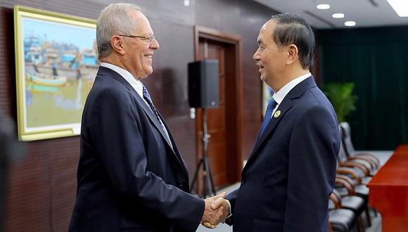 Pedro Pablo Kuczynski se reunió con el mandatario de Vietnam (FOTOS)