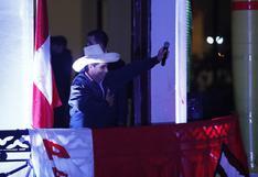 Pedro Castillo se dirigió a simpatizantes de Perú Libre en el Cercado de Lima (FOTOS)