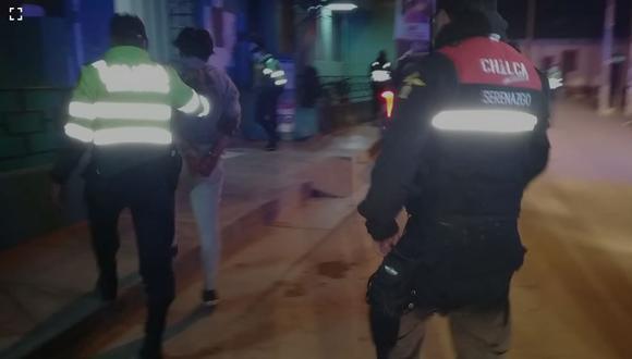 Sujeto fue detenido y llevado a la comisaría