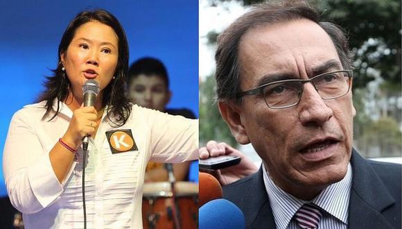 Keiko Fujimori cuestionó a Martín Vizcarra. | Foto: Composición.