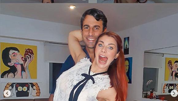 Xoana González con su esposo.   Foto: Instagram