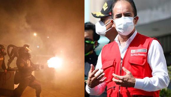Ministro Gastón Rodríguez se pronuncia sobre accionar policial durante protestas. (Foto:)