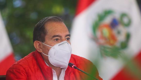 Walter Martos agradeció la confianza que le otorgó el pleno del Congreso. (Foto: Presidencia)