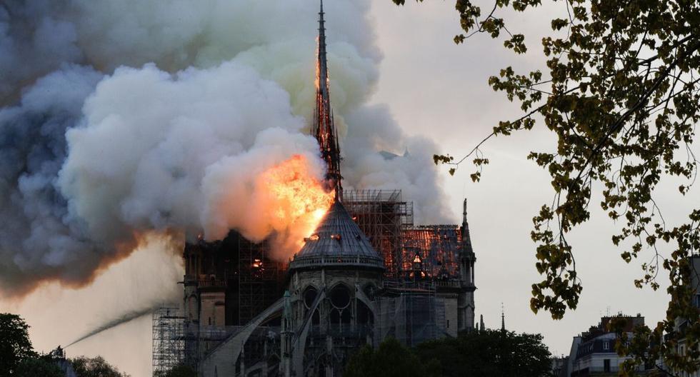 La catedral de Notre Dame (Francia) sufrió un incendio de grandes proporciones en abril de este año. (AFP)