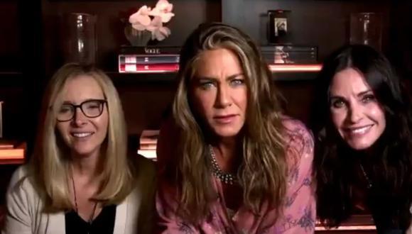 """Rachel, Monica y Phoebe de """"Friends"""" se reencontraron durante premiación. (ABC)."""