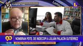 """Julián Palacín defiende designación de su hijo en Indecopi: """"Lo contratan empresas del extranjero"""" (VIDEO)"""