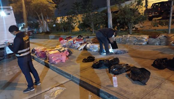 Policías trasladaron la mercadería a la sede de la Aduana para ser contabilizada