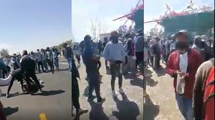 Ica: trabajadores de fundo bloquean carretera Panamericana Sur por falta de pago (VIDEO)