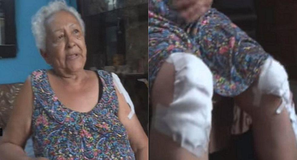 Anciana es arrastrada más de 30 metros por ladrón que le arranchó su monedero (VIDEO)