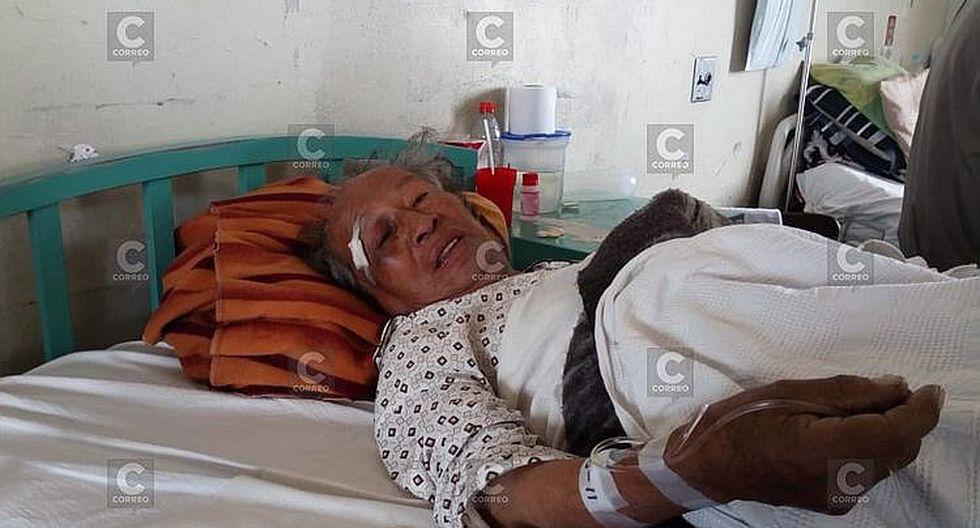 Septuagenario terminó con fracturas en el cuerpo al ser golpeado con un fierro por su hijo